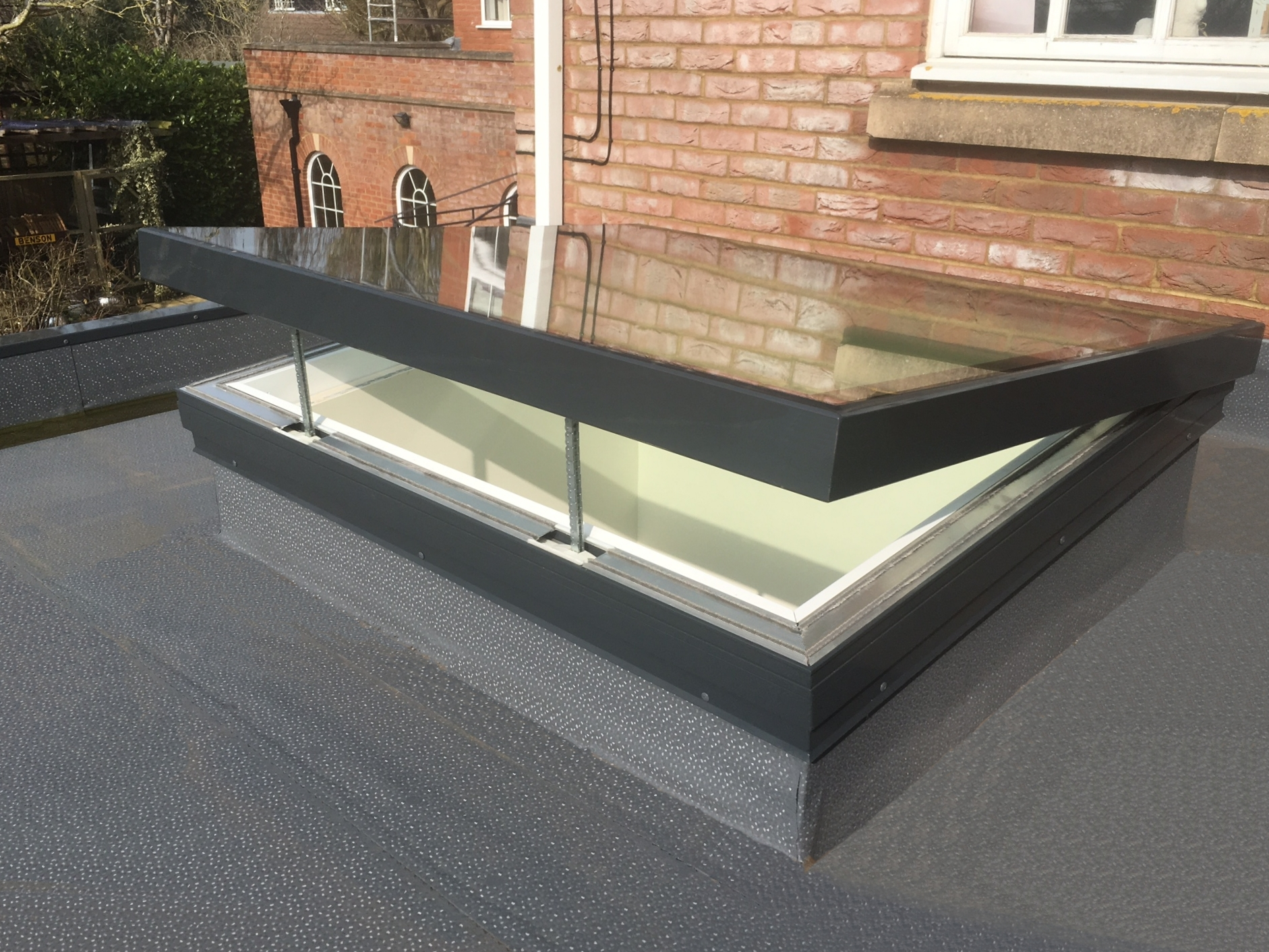 Astroglaze Electric Hinged Toughened Glass Rooflight