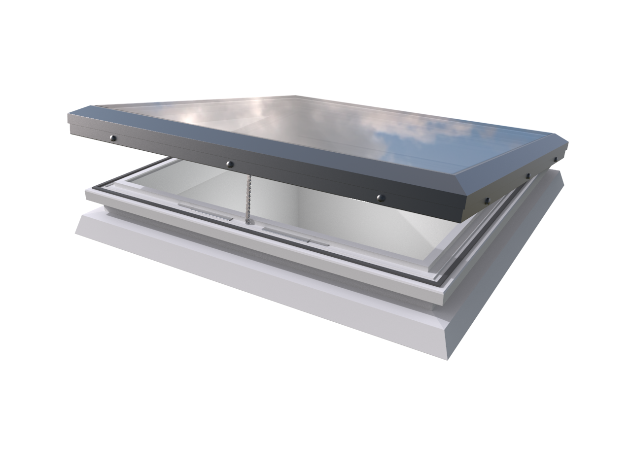 Mardome Glass Trade Rooflight Electric Hinge