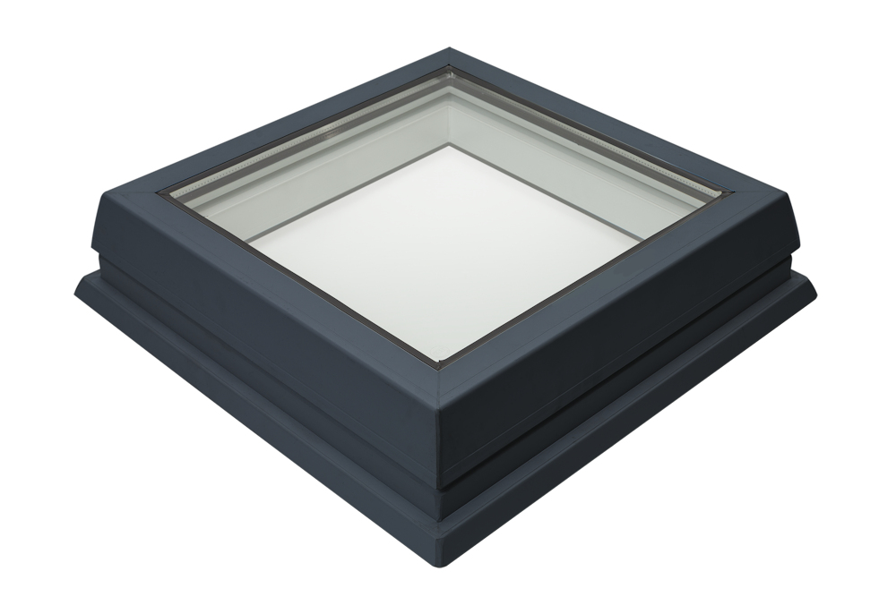 Lunaglaze Grey Fixed Glass Rooflight to Suit a Builders Kerb