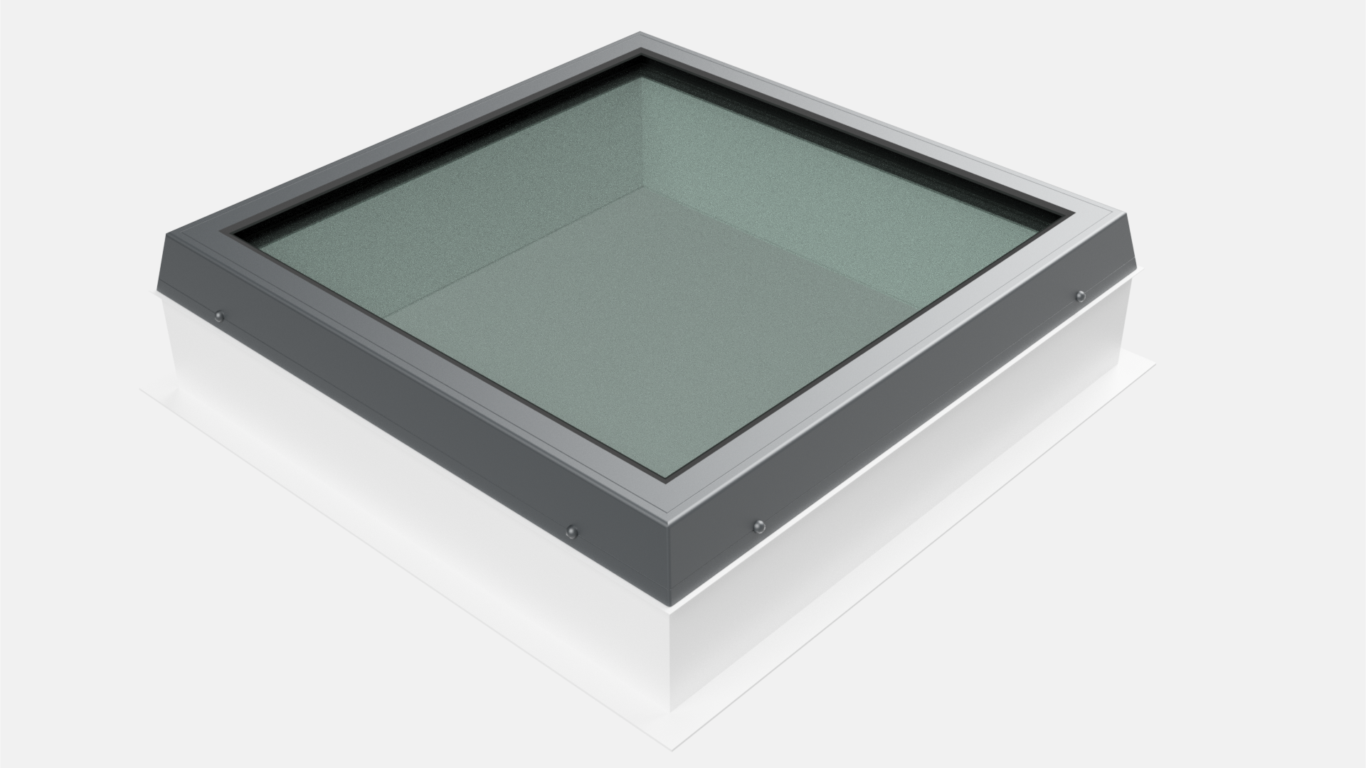 Lunaglaze Grey Fixed Glass Rooflight with Kerb