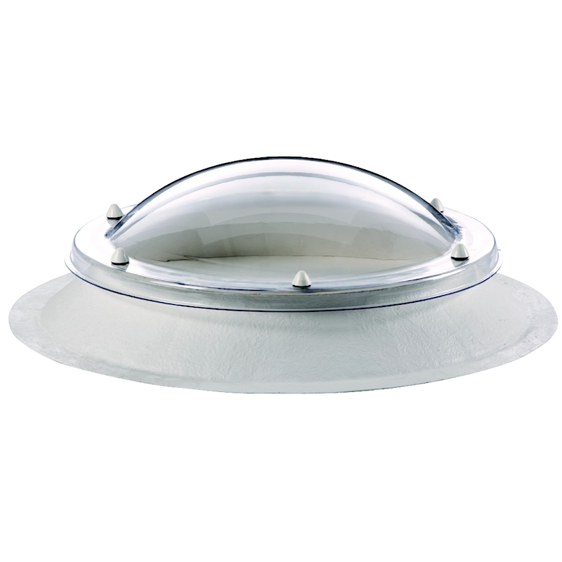 Coxdome Circular Trade Range Polycarbonate Dome Rooflight Fixed GRP Kerb