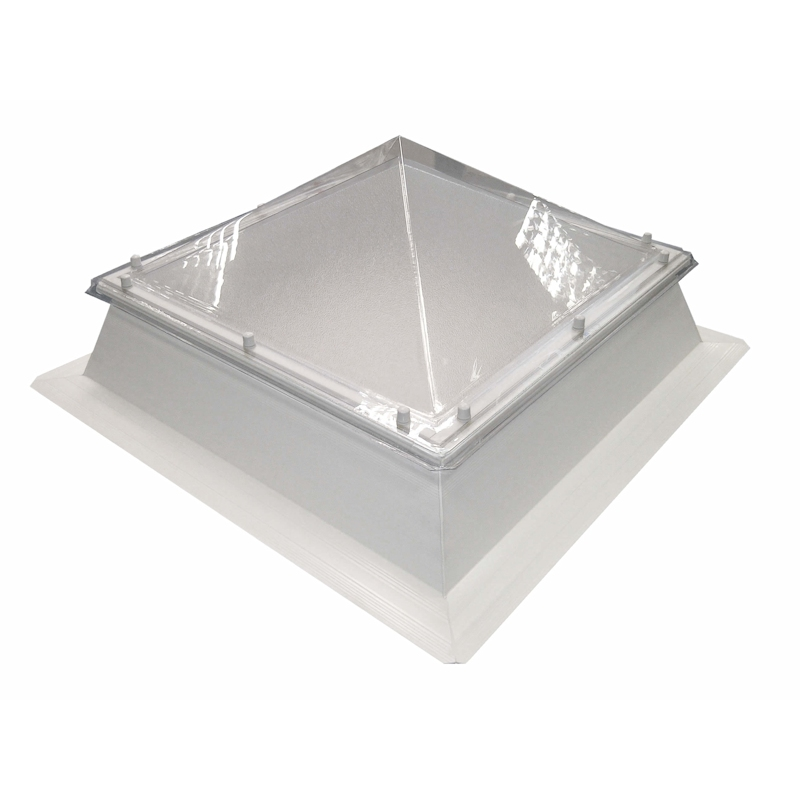 Coxdome Trade Range Polycarbonate Pyramid Rooflight Fixed PVC Kerb