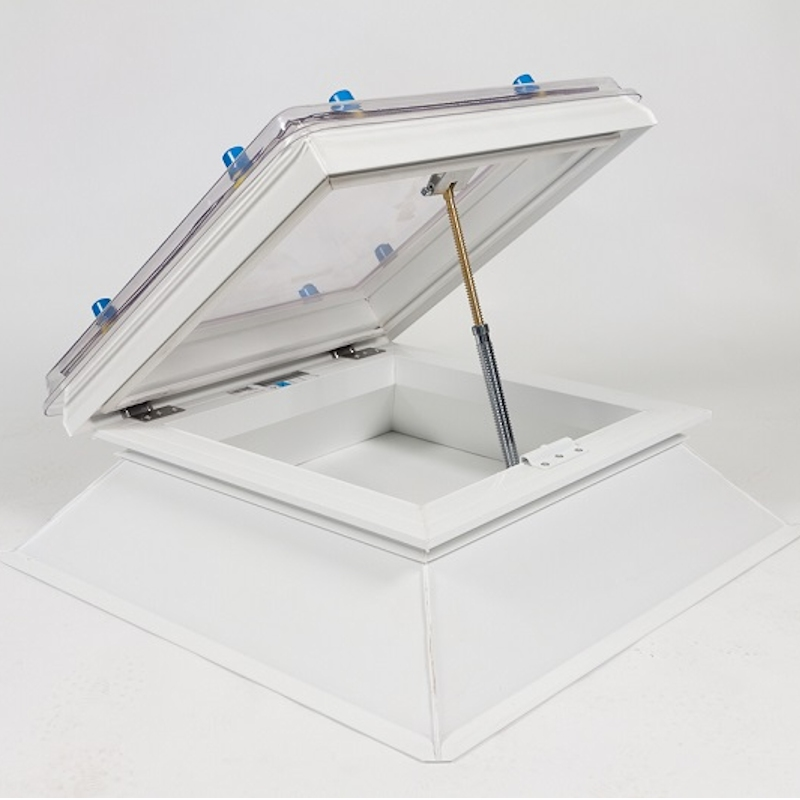 Coxdome Trade Range Dome Rooflight Manual Hinged Vent