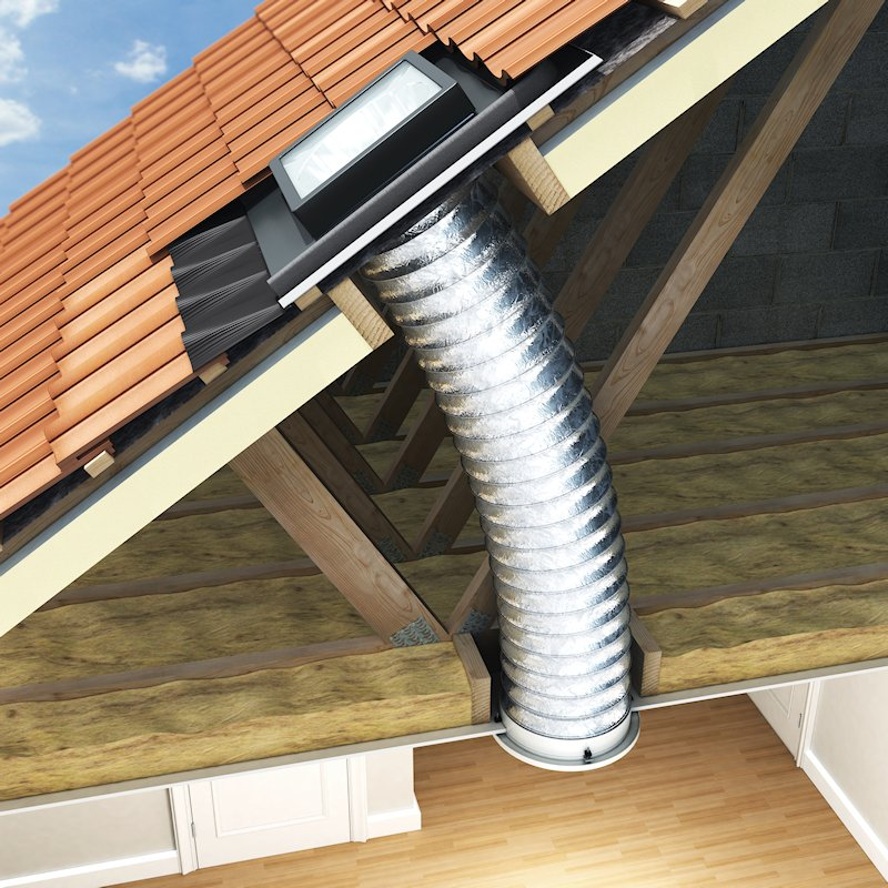 Lunaglaze Sun Tube Kit for Pitched Roofs
