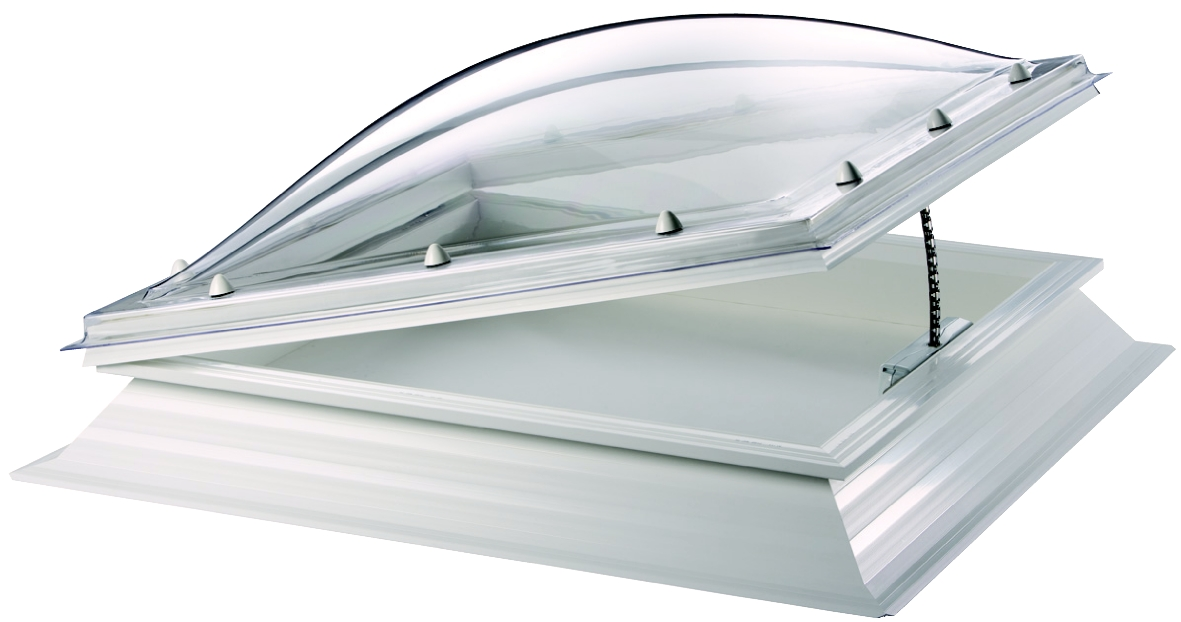 Thermadome Dome Rooflight PVC Kerb and Electric Hinged Opening