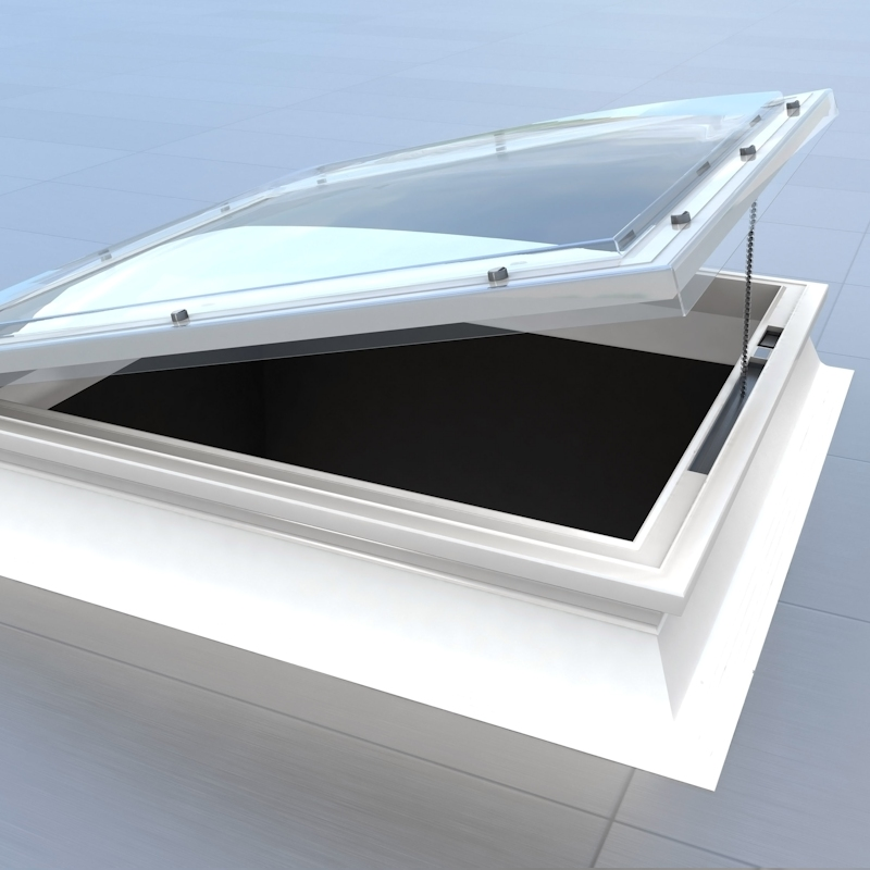Mardome Trade Dome Rooflight Electric Hinged Vent