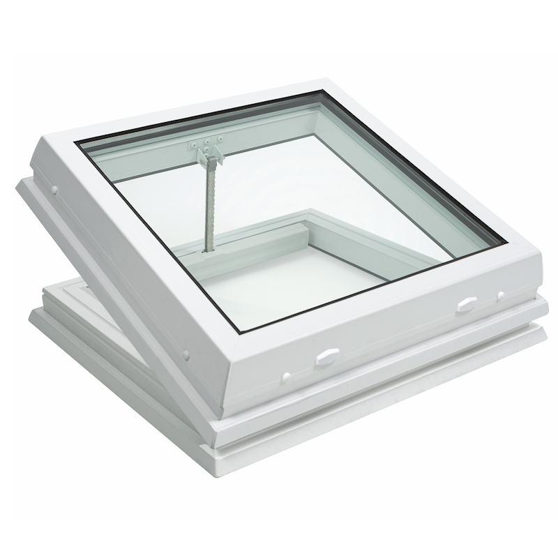 Lunaglaze Electric Hinged Glass Rooflight to Suit a Builders Kerb