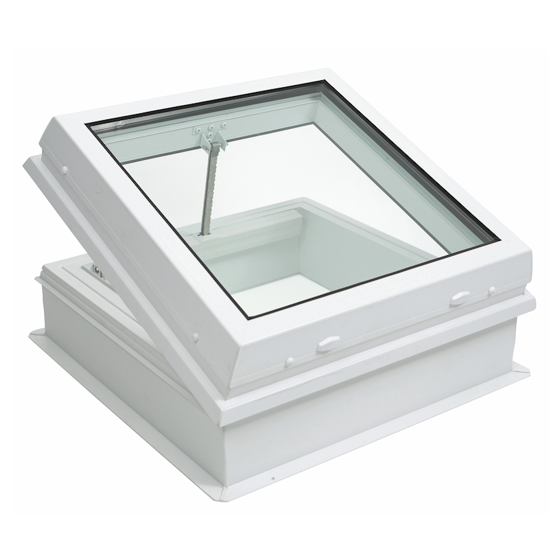 Lunaglaze Electric Hinged Glass Rooflight with PVC Upstand