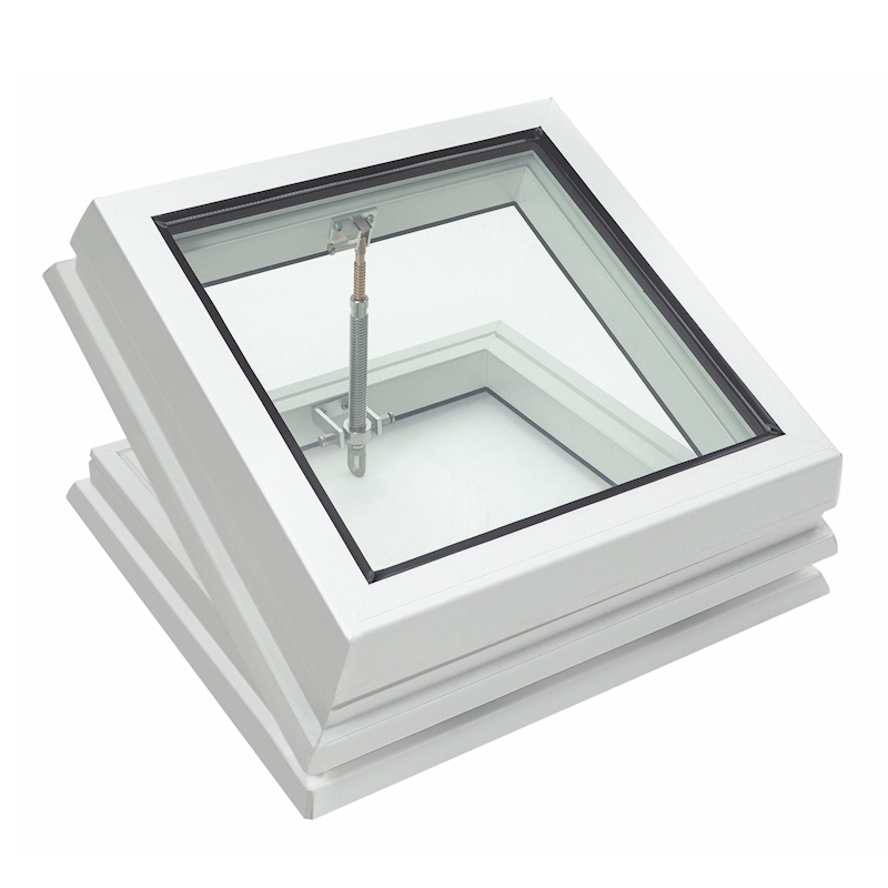 Lunaglaze Manual Hinged Glass Rooflight to Suit a Builders Kerb