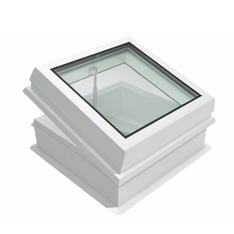 Lunaglaze Manual Hinged Glass Rooflight with PVC Upstand
