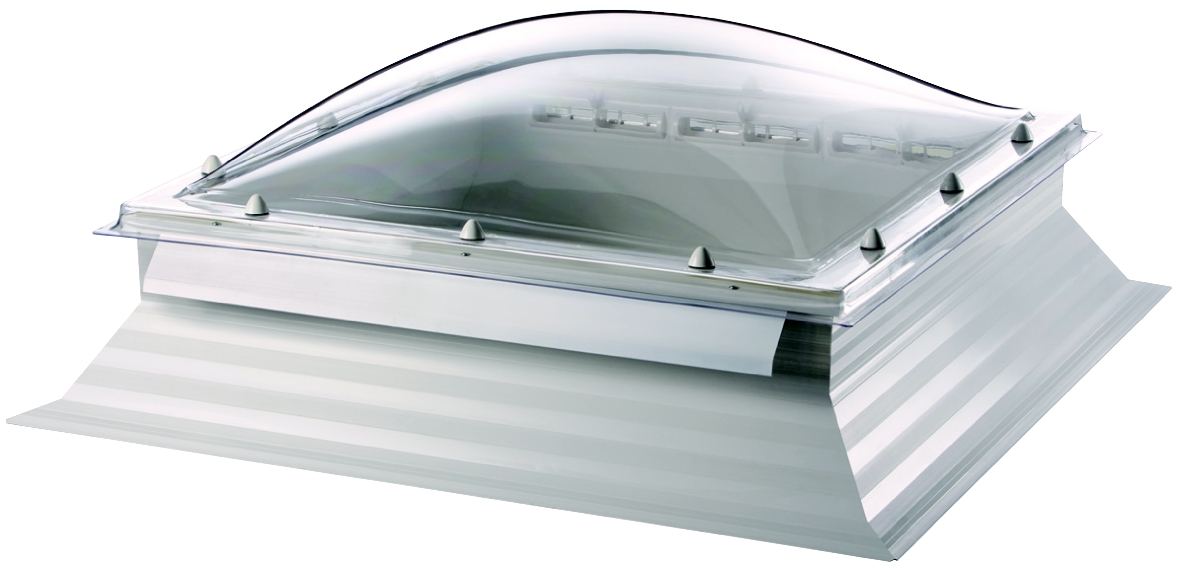 Thermadome Dome Rooflight PVC Kerb and Controllable Rotating Vents